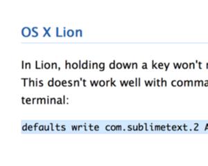 [Mac OS X] Sublime Text 3 を Vim化したら文字の連続入力ができない(キーリピートが効かない)ときの解決方法