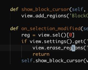 Sublime Text 3 の Vintage/Vintageous コマンドモードでブロックカーソルにするプラグイン「BlockCursorEverywhere」