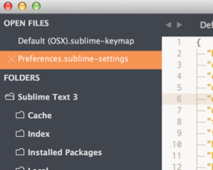 Sublime Text のサイドバーをhjklキーで移動する