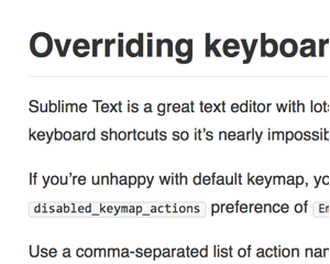 Sublime Text 3 の Emmet ショートカットキーを無効にする設定