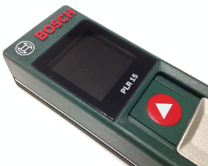 巻尺・メジャー代わりに使える!BOSCH(ボッシュ)のコンパクトなレーザー距離計 PLR15 を買いました