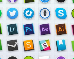 Mac OS X ヨセミテ用のアプリアイコン23種類が入った「Yosemite Dock Icons」