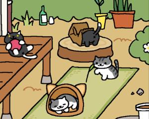 庭先を猫パラダイスに!めちゃくちゃ癒されるiPhoneアプリ「ねこあつめ」