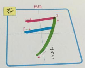 カタカナ「ヲ」の書き順を調べてみた