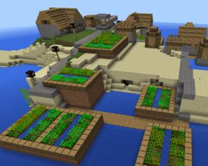 【小学生とマインクラフトPE】Seed値を入れていろんな地形の世界をためしてみるの巻