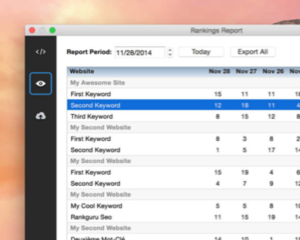 Macのメニューバーから簡単に検索順位チェックができるアプリ「RankGuru SEO」