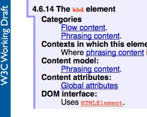 [HTML5] kbd要素をちゃんと使ってみる