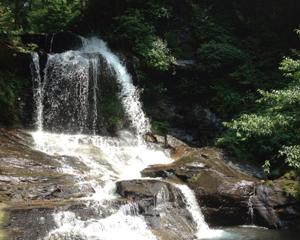 滝を眺めつつ流しそうめんを食べてきた(石川県河北郡津幡町の木窪大滝にて)