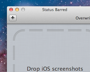 [Mac] iPhoneのスクリーンショットからステータスバー部分を削除してくれる無料アプリ「Status Barred」