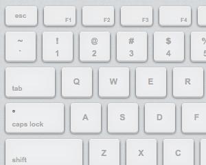 CSS3でMacのキーボードっぽく見えるスタイルを設定してみた