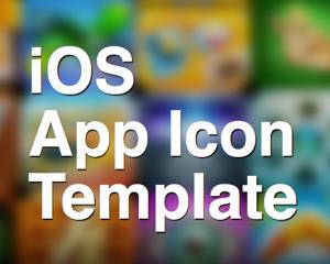 iPhone/iPadアプリのアイコン用テンプレートPSDファイル「iOS App Icon Template」が便利そう