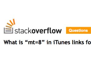 App StoreのiTunesリンクについている mt=8 の意味は?
