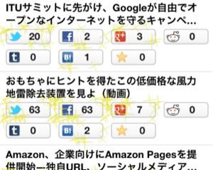 ブログ記事のツイート数やいいね!数やはてブ数を一括チェック+グラフ表示してくれるiPhoneアプリ「Feedback」