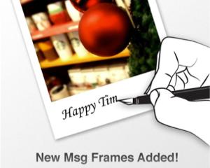 クリスマスカードや年賀状にも!新しいメッセージフレームが追加されたiPhone/iPadアプリ「Vintique」