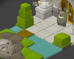 トトロみたいなキャラがかわいいiPhone/iPad用パズルゲームアプリ「Grooh」