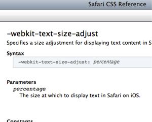 iPhone版Safariで文字サイズがおかしくなるときは-webkit-text-size-adjust: 100%; を指定する