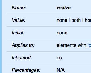 CSSでテキストエリアをリサイズ不可にしたり任意の要素をリサイズ可能にする
