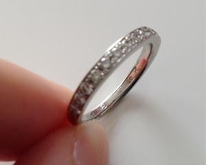 ヴァンドーム青山の結婚指輪が歪んでしまったので修理ついでにサイズ直ししてもらいました