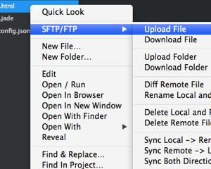 Sublime Text 2 の SFTP パッケージでファイルの自動アップロード&モニタリング機能を試してみた