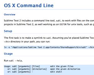 [Mac] ターミナルから Sublime Text 2 を開く subl コマンドを設定してみた(ついでにST2→ターミナルも)