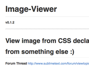 Sublime Text 2 で画像のプレビューを簡単にするパッケージ「Sublime-Text-2-Image-Viewer」