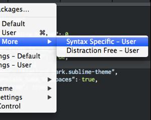 Sublime Text 2 でファイルタイプごとにカラーテーマや設定を変える方法