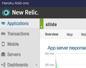 HerokuのSinatraアプリにNew Relicアドオンを入れてみる