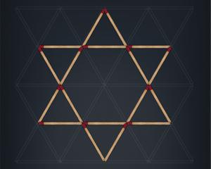 マッチを動かして図形をつくれ!じっくり遊べるシンプルなiPhoneゲームアプリ「マッチ棒 ミニパズル」