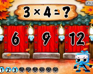 ゲームで掛け算九九を覚えられるiPhone/iPadアプリ「算数忍者〜九九の巻〜」