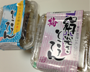 彩の国優良ブランド品に認定されている折原コンニャク店の絹突きところてんを食べてみた(埼玉県久喜市推奨特産品)
