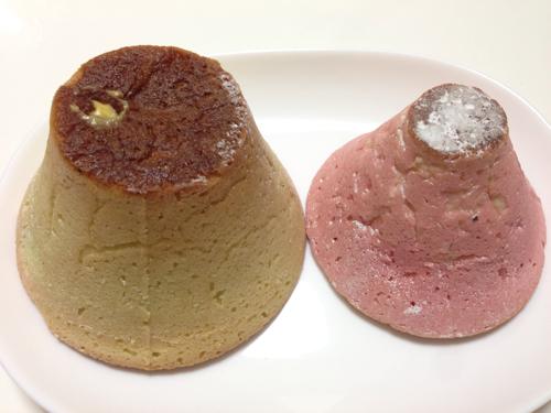 山梨土産にもらったマウントメロンフジヤマのいちごバージョンが美味しかった